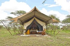 andBeyond Serengeti Under Canvas - Acampamento de luxo na Tanzania