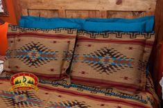Southwestern Isleta Pillow Sham -Tourquoise Blue