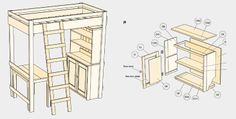 Free Free bedroom Furniture Plans, Bunk Bed Plans, Loft Bed Plans