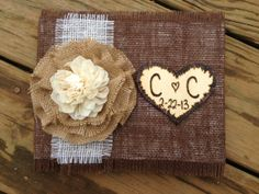 Hey, I found this really awesome Etsy listing at http://www.etsy.com/listing/123479572/burlap-guestbook-burlap-wedding