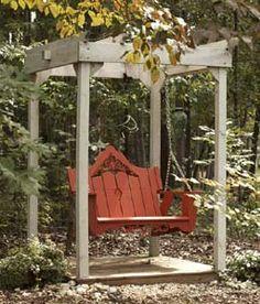 Veranda Swing w/Companion Arbor