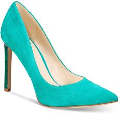 Dark Turquoise Suede Classic Pumps Women's Shoes