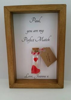 Boyfriend gift, girlfriend gift, romantic gift, Valentines, anniversary. Card mounted or have it personalised & framed.