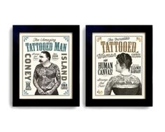 Tattoo Art  Tattoo Parlor Sideshow Art Circus Poster Ink