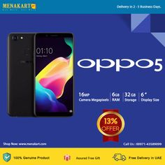 OPPO, known for its picture enhancement technologies, presents to you the OPPO The Artificial Intelligence technology incorporated in this phone lets you take beautiful selfies. Mobile Phones Online, Artificial Intelligence Technology, Uae, Free Gifts, Selfies, Presents, Beautiful, Gifts, Corporate Gifts