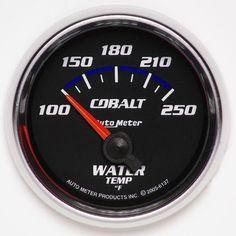 Autometer Cobalt 52.4mm 100-250 deg. F Short Sweep Electronic Water Temperature Gauge