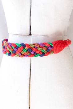 Multicolor 60's Braided Belt by PomegranateVintage on Etsy, $35.00