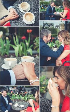 Engagement photos, coffee shop, St. Louis engagement photographer, St. Louis Wedding Photographer, Charis Rowland Photography