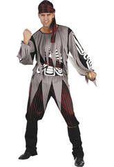 Disfraz Pirata esqueleto hombre