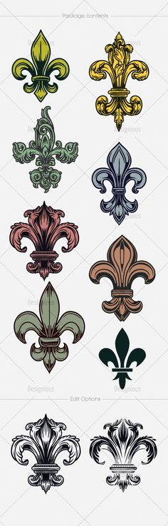 Larry top right Tattoo Signs, I Tattoo, Flur De Lis Tattoo, Lillies Tattoo, Leather Tooling Patterns, Calligraphy Signs, Celtic Art, Symbolic Tattoos, Step By Step Drawing