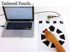 Tailored Touch - a mouse from touch sensitive pads, fitted to youby HHCD