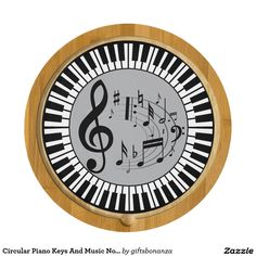 Circular #Piano Keys And #Music Notes @giftsbonanza