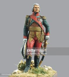 Marshal Jean Baptiste Bessieres (1766-1813), 1810, 5.4 cm, toy soldier from Napoleonic era, 19th century