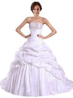RohmBridal Women's Embroidery Taffeta Ball Gown Wedding Bridal Dress >>> See this great image  : Plus size dresses