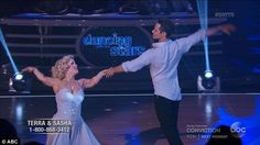 Emotional dance: Terra Jole and Sasha Farber gained 30 points