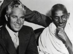 Charlie Chaplin and Gandhi - Purely rare