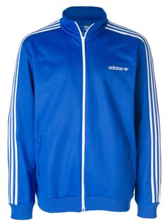 adidas BB track top white blue