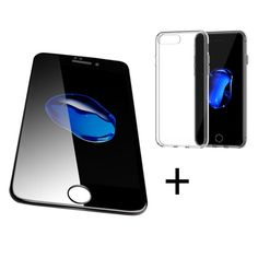 """Bakeeyâ""""¢ 4D Curved Edge Tempered Glass Film With Transparent TPU Case for iPhone 6Plus/6sPlus"""