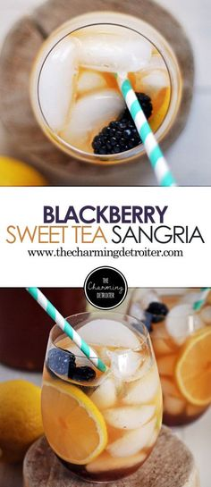 Blackberry Sweet Tea Sangria Celebrate the summer with this deliciously refreshing sweet tea sangria featuring fresh blackberries click now for more. Sangria Recipes, Punch Recipes, Alcohol Recipes, Cocktail Recipes, Smoothie Recipes, Margarita Recipes, Drink Recipes, Refreshing Cocktails, Summer Cocktails