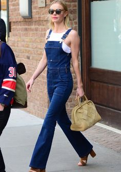 La salopette en jean selon Kate Bosworth