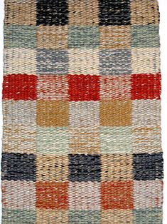 Nantucket Weaving room   wool checked rug