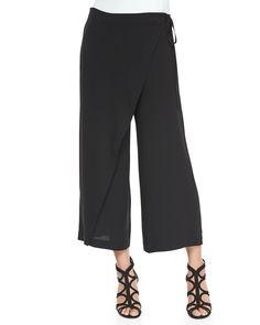 Karate Cropped Silk Pants, Women's, Size: SMALL, Black - Eileen Fisher