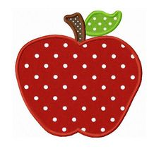 Apple back to school applique design machine by FunStitch on Etsy, $2.59