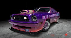1978 Ford Mustang King Cobra.  (BLUE OVALS RACING FORD) by Papa Borgia 74, via Flickr
