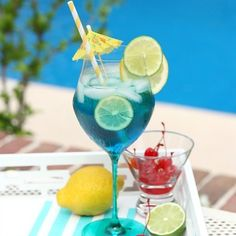 Cool off with the perfect tropical blue sangria summer drink recipe!