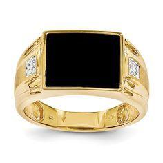 14k Yellow Gold Vs Diamond Men\'s Ring – Goldia.com