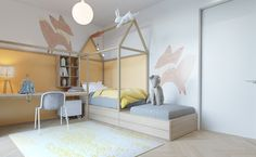Unique and simple kids bedroom with pastel color... | Visit : roohome.com #bed…