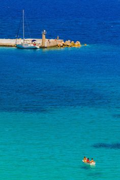 Paddling in the sea ~ Samos, Greece