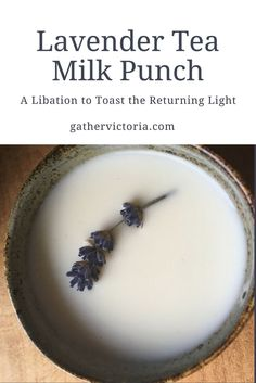 Ceremonial drink for Imbolc Lavender Tea Milk Punch. Ceremonial drink for I Kitchen Witchery, Witches Brew, Herbal Tea, Herbal Witch, Herbalism, Food And Drink, Favorite Recipes, Treats, Homemade