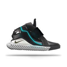 One more shoe from the future. This one looks like in came out of tron with the blue stripe going through it. Whats really cool about it is that the soul is kinda wireframe and see through which I really like.