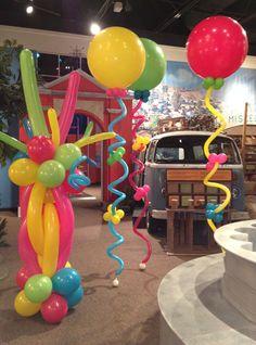 Balloonize Your Event Houston, Texas Balloon Column - Balloonize . Balloon Display, Balloon Backdrop, Balloon Centerpieces, Balloon Decorations Party, Balloon Garland, Birthday Party Decorations, Birthday Parties, Themed Parties, Halloween Decorations