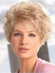 Hot Sale Noble Short Curly Capless Synthetic Hair Wig  Original Price: $99.00 Latest Price: $48.49