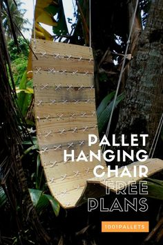 The coolest pallet hanging chair! Download your FREE Plans!