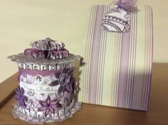 Reel decorated with craftwork cards papers