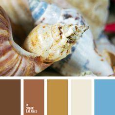 Основанное на контрасте сочетание прохладных оттенков коричневого, белого и голубого согреваются бежевым и цветом какао. Уютная гамма для спальни, кухни, ванной комнаты, и коридора. В одежде – сочетание голубой джинсовой ткани с коричневой обувью, сумкой или ремнем. Естественный макияж.