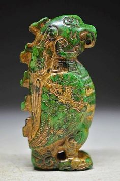 Archaize Chinese classical old Jade Carved statue by MOSTLYOLDPAWN, $350.00