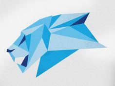 Blue Lion head by Adam Glynn-Finnegan