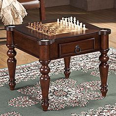 Superbe Chess Board End Table!