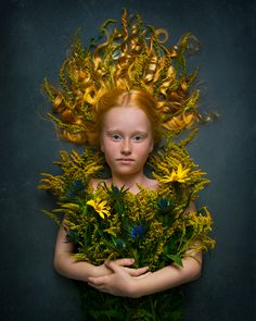 photoart studio- children fine art photography fine art portrait - gorgeous  red hair