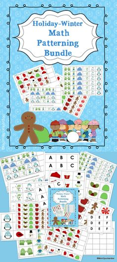 Bundle of two math patterning activities. Holiday Math Patterning & Winter Math Patterning. These activities are great for use in centers and can also be used for individual practice. #math