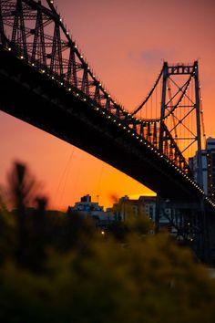 Ponte Hercílio Luz - Florianópolis, Santa Catarina, Brazil  #brazil #bridges