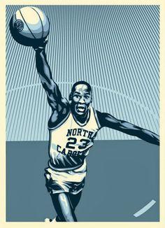 Upper Deck Authenticated Unveils Michael Jordan Hall of Fame Tribute Series  from Artist Shepard Fairey Series includes Jordan UNC 40af830cd