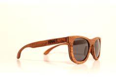 The Point wayfarer style wooden sunglasses by Kraft eyewear
