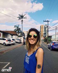 Óculos de sol @loja_amei ☀️☁️ #lojaamei #sol #oculos #oculosdesol #diaazul #ceu #rua #verao