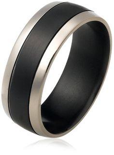 Men's Black Titanium 8mm Plain Wedding Band with Thick Center Stripe, Size 11 Amazon Curated Collection,http://www.amazon.com/dp/B0028AD0PM/ref=cm_sw_r_pi_dp_p.Rvsb13BPTSWCQJ