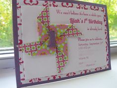 Pinwheel Party Invitation  set of 24 by PerfectlyPaisleyShop, $40.00